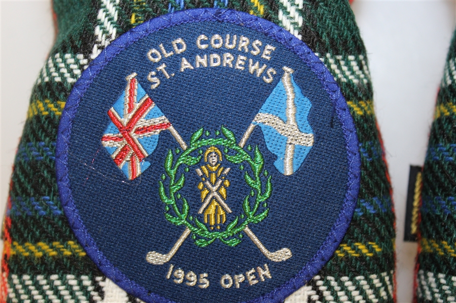 Old Course At St. Andrews 1995 Open Red Tartan Club Head Covers - 1, 3, Utility