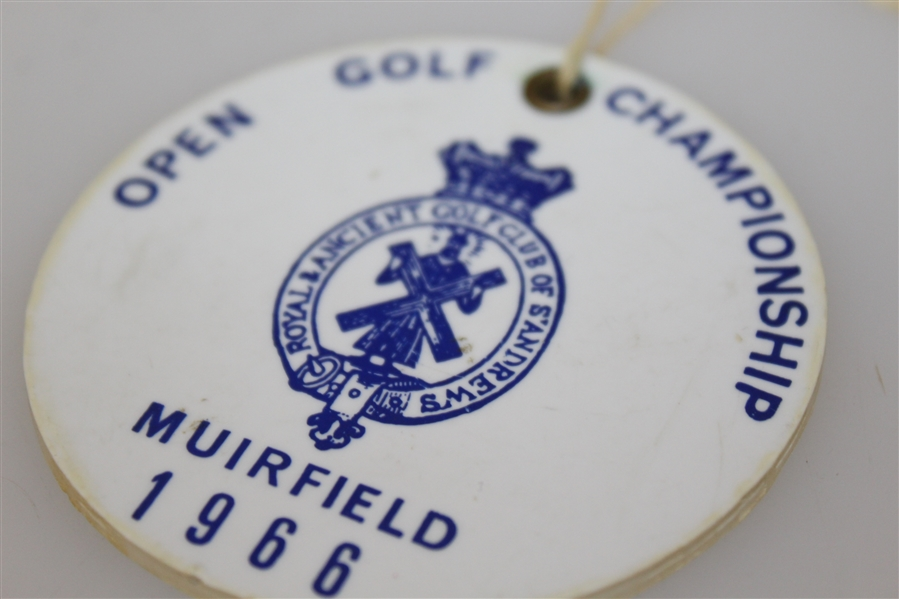 1966 British Open Muirfield Bag Tag - Nicklaus 1st Win