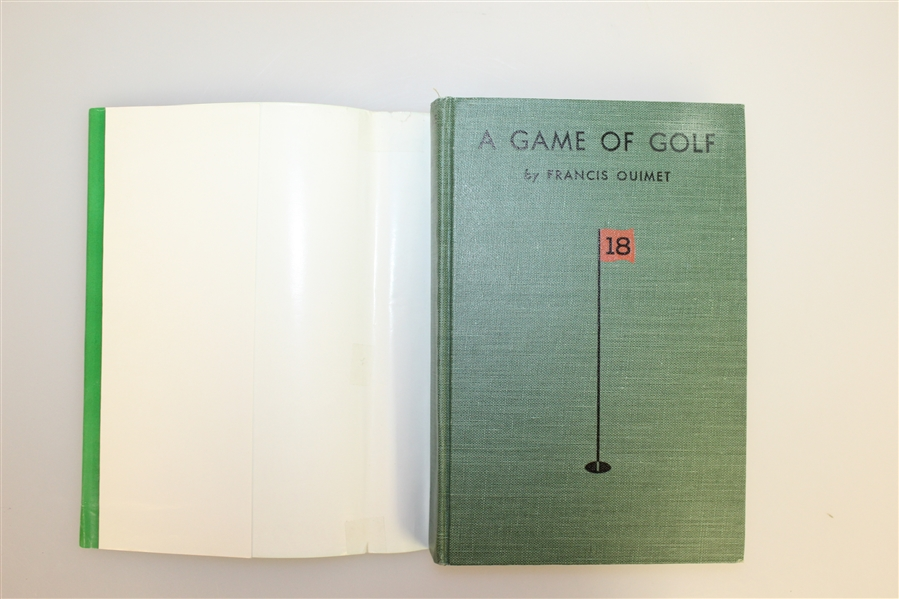 A Game Of Golf By Francis Ouimet w/ Dust Jacket