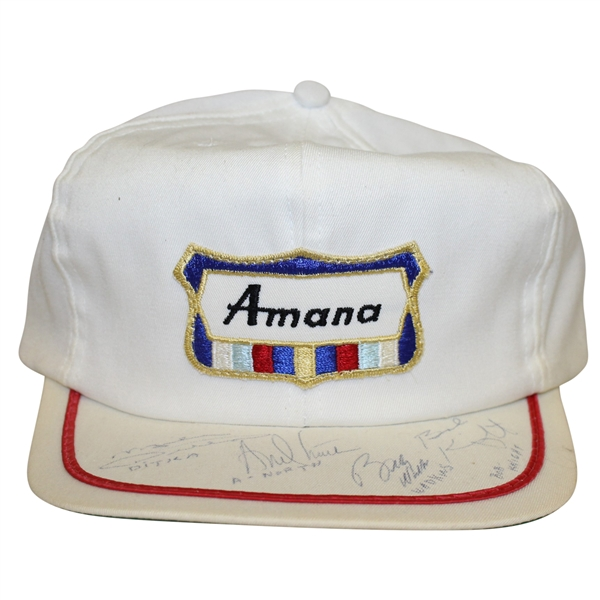 Vintage Amana PGA Tour Hat Signed By Mike Ditka, Bobby Knight, Andy North & Bobby Wadkins JSA/AOLA