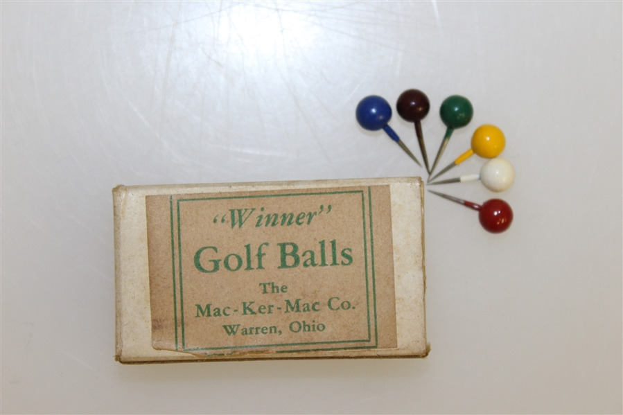 1930's Winner Golf Game MAC-KER-MAC Warren Ohio  - Original Box
