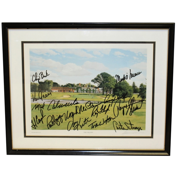 The Belfry Signed Baxter Print By US Ryder Cup Team JSA ALOA