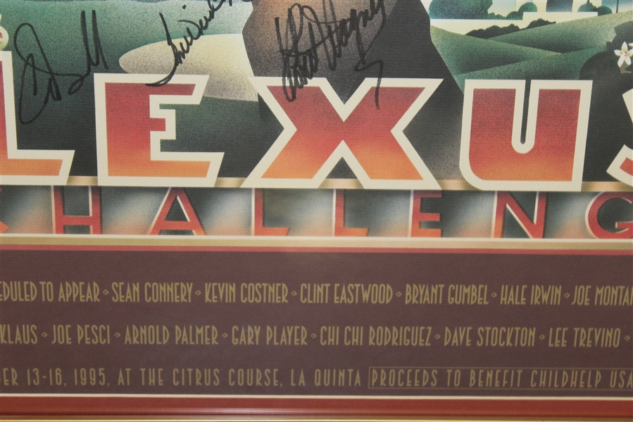 1995 Lexus Challenge Poster Signed By Palmer, Nicklaus, Player, Eastwood, & other JSA ALOA