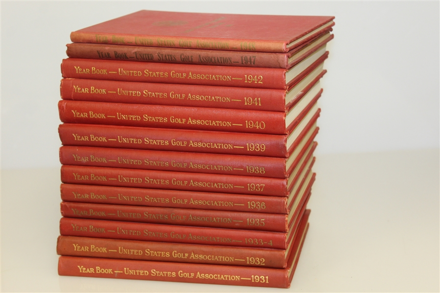 USGA Year Books 1931-1942, 1947 & 1948