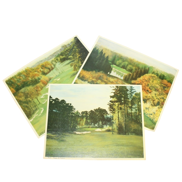 Erwin Barrie Golf Scene Prints - 5th Hold St. Andrews (USA), 14th Hole Pine Valley, 10th Hole Augusta National