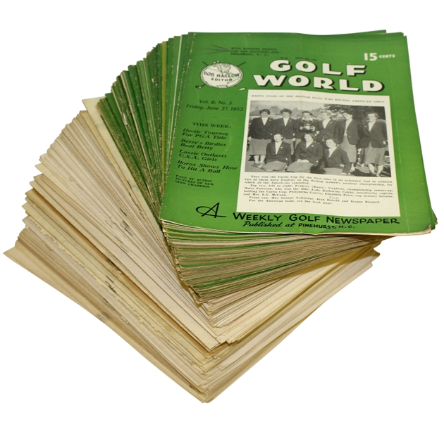 Maureen Orcott's Personal Golf World Weekly Magazines - Various Issues From 1948-1952