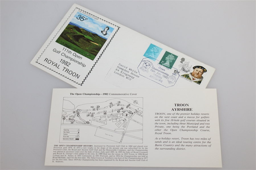 British Open Stamped & Cancelled Caches - 1982-1995