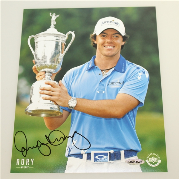 Rory McIlroy Signed Upper Deck Photo From His 2011 US Open Victory - Upper Deck #BAM14523