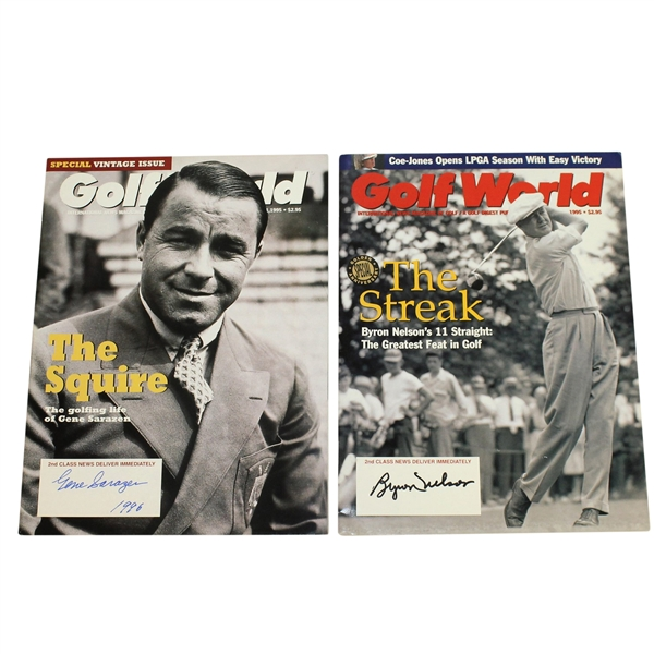 Gene Sarazen & Byron Nelson Signed Golf World Magazines JSA ALOA