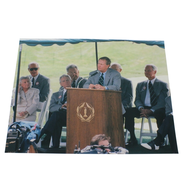 1999 Jack Nicklaus 8x10 Photo at Memorial Tournament - Sent to Sharon Rae from Tournament Director