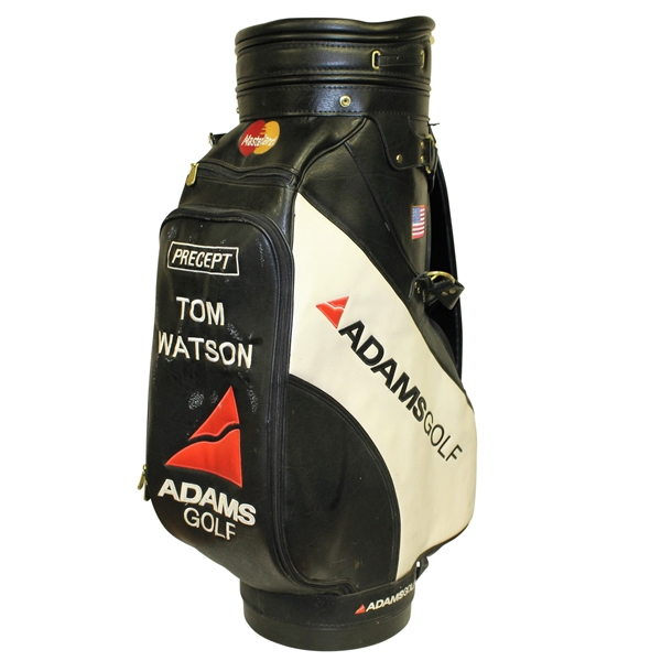 Tom Watson Course Used Golf Bag w/ American Flag Patch & MasterCard Patch