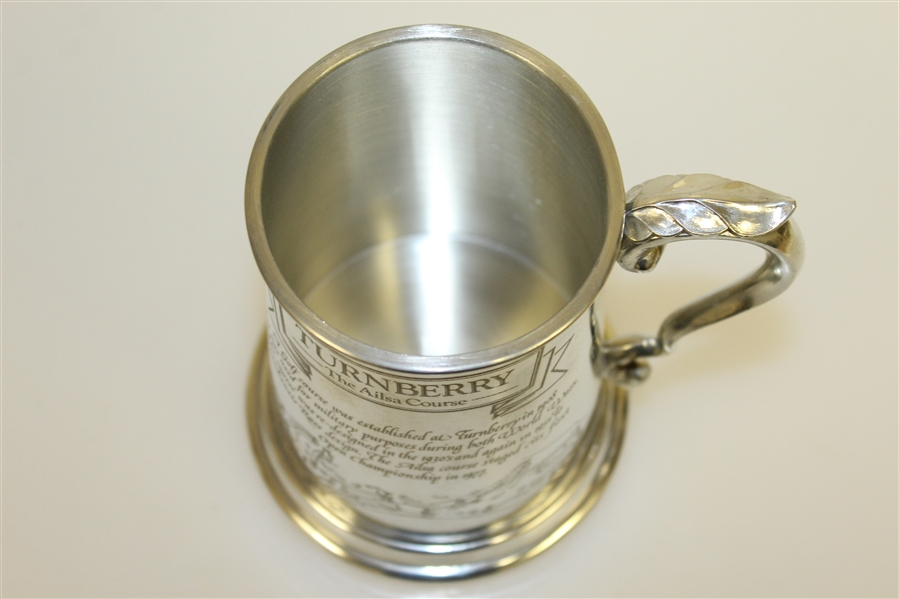 Turnberry 'The Ailsa Course' English Pewter Tankard w/ Ornate Handle - Made In Sheffield England