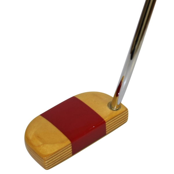 PING Dasner Wooden Head Putter w/ Brass Sole Plate & Head Cover - Great Condition