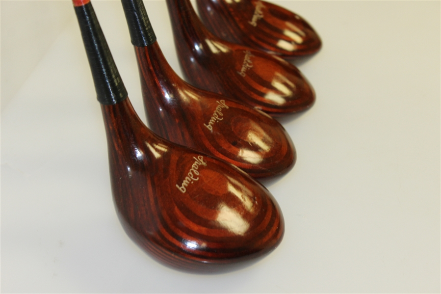 Circa 1960's Spalding Top-Flite Tournament Model Matched Woods Set #9869 1-4