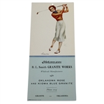 Vintage Swing Time Lady Golf Advertising Piece
