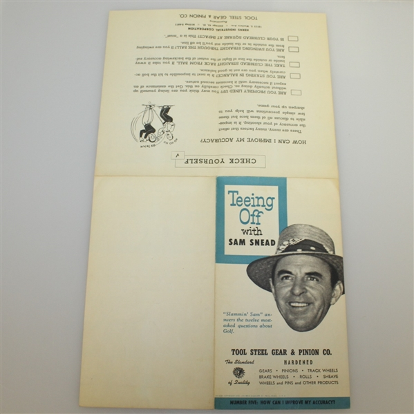 Five 1953 'Teeing Off with Sam Snead' Booklets