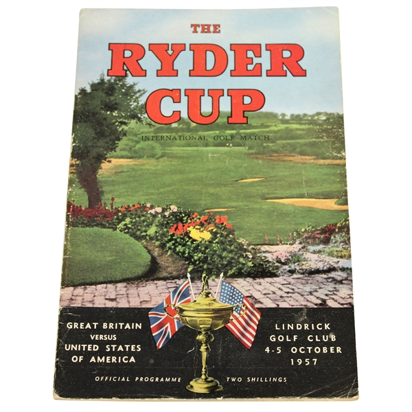 1957 Ryder Cup at Lindrick GC Official Program - GB 7 1/2 - 4 1/2