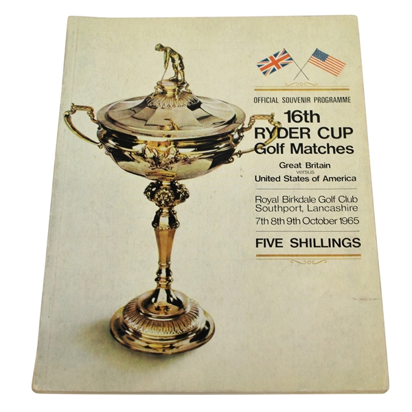 1965 Ryder Cup at Royal Birkdale Golf Club Official Program - USA 19 1/2 - 12 1/2