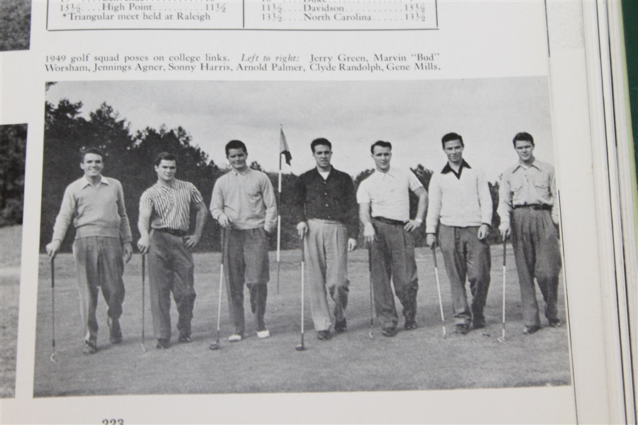 1949 Wake Forest College 'The Howler' Yearbook with Arnold Palmer