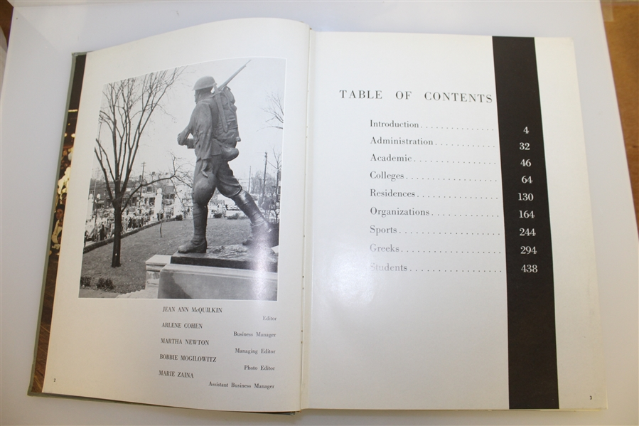 1960 Ohio State University 'Makio' Yearbook with Jack Nicklaus