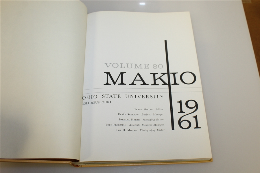 1961 Ohio State University 'Makio' Yearbook with Jack Nicklaus