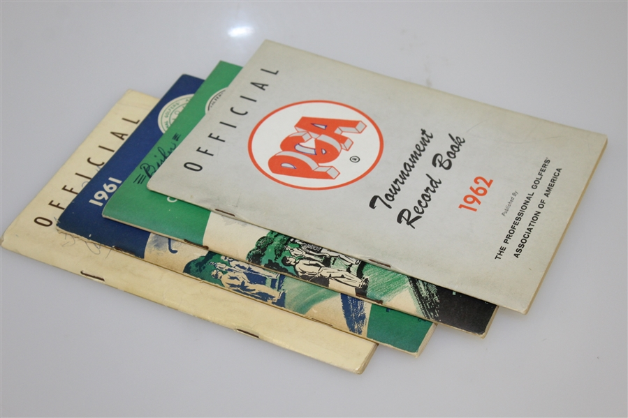 1961 & 1962 Official Player PGA Catalogs with 1961 & 1962 PGA Record Books