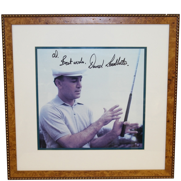 David Leadbetter Signed & Personalized Ben Hogan 'Grip' Photo - Framed JSA ALOA