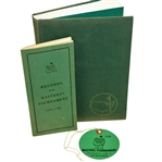 1974 Masters Ticket, 1988 Records of the Masters Booklet, & Story of Augusta National Book
