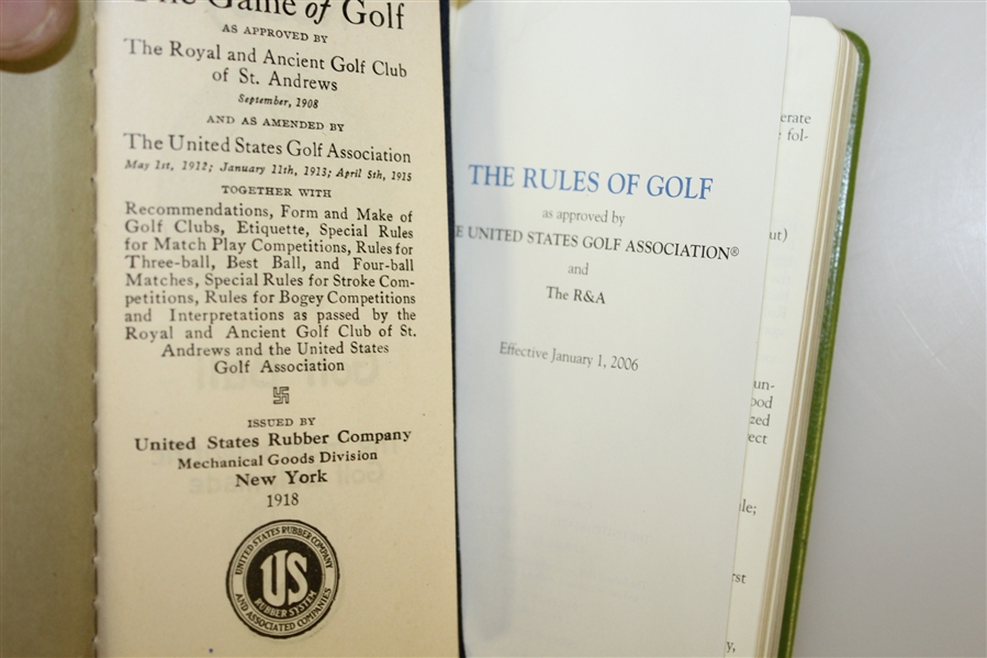 Two Rules of Golf Booklets, The 'Ri-Co' Muffler, Wilson Hint Book, Postcard, & Score Book