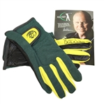 Butch Harmon Signed Right Grip Green/Yellow Golf Gloves JSA ALOA