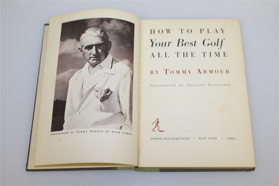 Tommy Armour 1953 'How To Play Your Best Golf All The Time' Golf Book