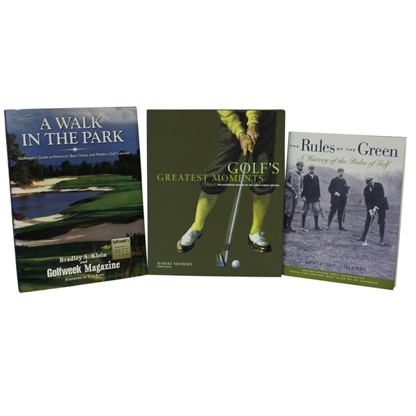 'The Rules of the Green', 'Golf's Greatest Moments', & 'A Walk in the Park'