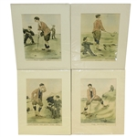 Four Edmund Fuller Prints - The Last Put, Fore, The Bunker, & Entitled to See the Ball