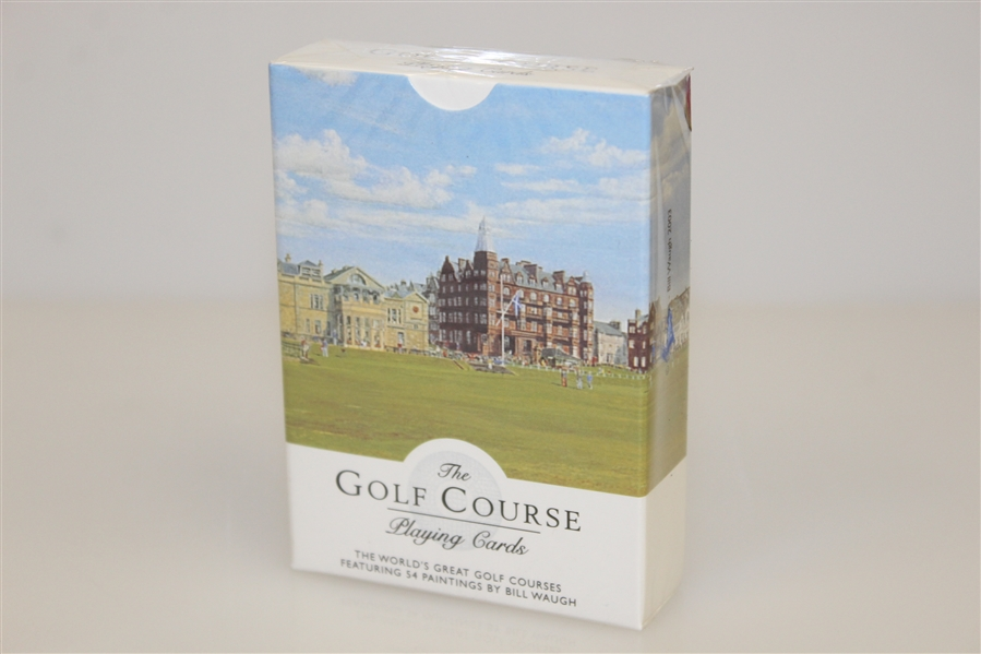 Baltusrol Porcelain Card Holder with Commemorative Playing Cards by Artist Bill Waugh