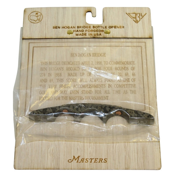 Masters Hand Forged Ben Hogan Bridge Bottle Opener - Unopened