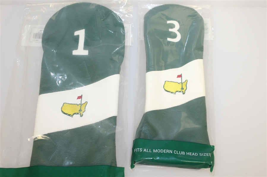 Five Masters Exclusive Leather Headcovers - Driver, 3 Wood, Utility, Hybrid, & Putter