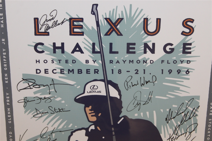 1996 Lexus Challenge Poster Signed By Participants Including Arnold Palmer, Ken Griffey Jr., Sean Connery, Kevin Costner