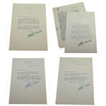 Lowell Thomas Signed Four Letters to Charles Price JSA ALOA