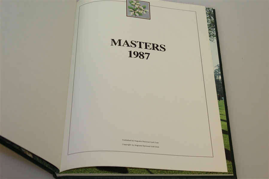 1987 Masters Tournament Annual Book - Larry Mize Winner