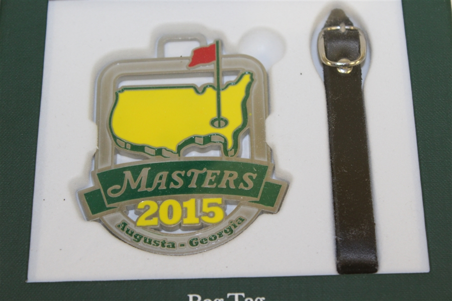 2012, 2014, & 2015 Masters Tournament Bag Tags in Original Green Boxes