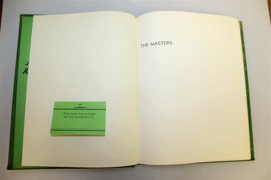 1973 'The Masters: Profile of a Tournament' Book by Dawson Taylor