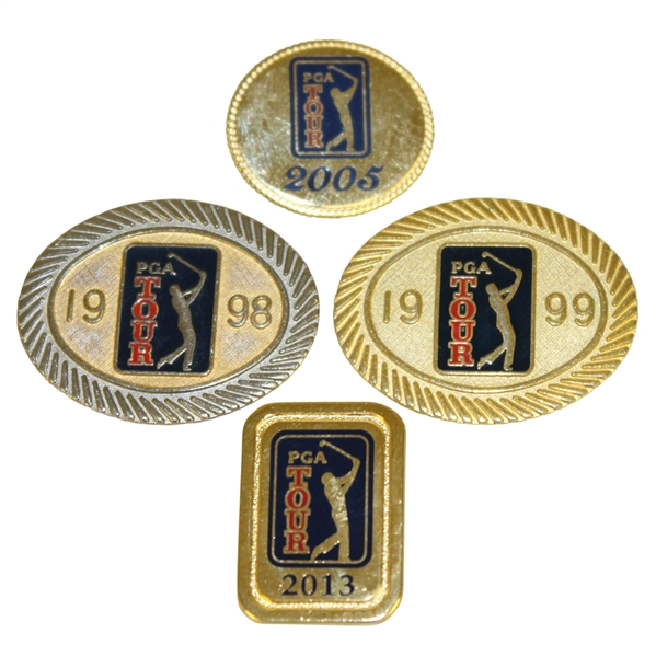 1998, 1999, 2005, & 2013 PGA Tour Member Badges/Pins