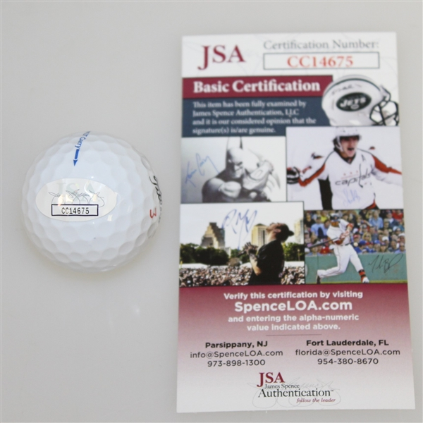 Danny Willett Signed Augusta National Golf Club Classic Logo Golf Ball JSA #CC14675