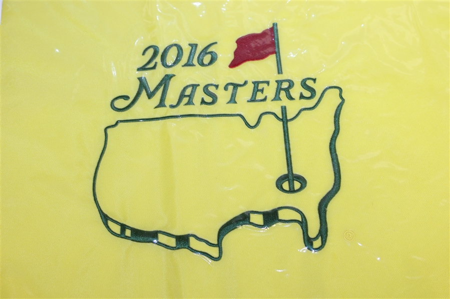 2014 & Two 2016 Masters Embroidered Flags with Undated Masters Garden Flag