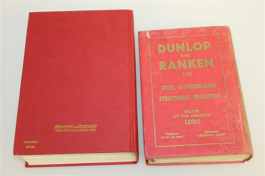 Royal & Ancient's 1957, 1989, 1991, & 2001 Editions of 'The Golfer's Handbook'
