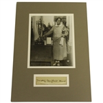 Dorothy Campbell Herd Signed Cut Album Page with Wire Photo - Matted JSA ALOA