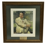 Gene Sarazen Signed 1935  at Augusta Art Piece with Pers., Dated 1972 - Framed JSA ALOA