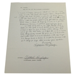 Harry Cooper  Twice Signed & Handwritten Response Letter About Lighthorse Nickname-LA Open Content- JSA ALOA
