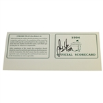 Sandy Lyle Signed Official 1994 Masters Tournament Scorecard with 1988 JSA ALOA