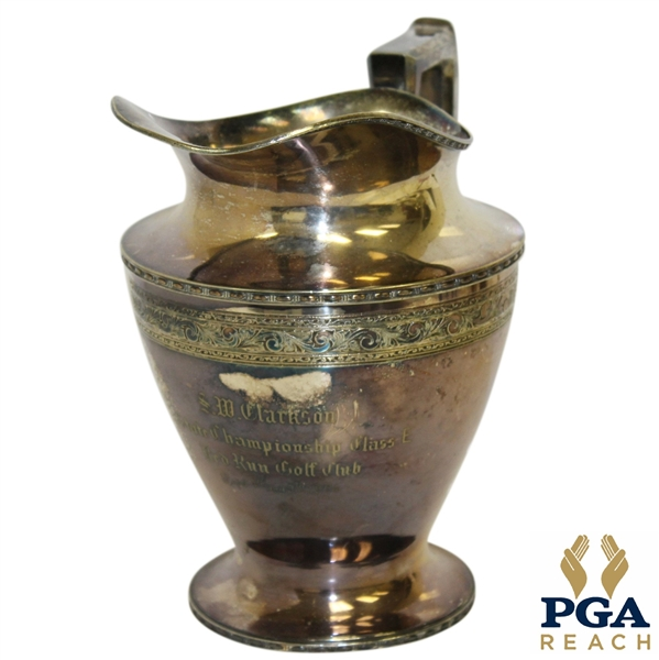 1924 SW Clarkson State Championship Class E Silver Pitcher Trophy - Red Run Golf Club